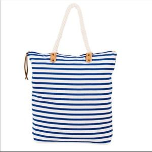 Summer & Rose Rope Handle Canvas Tote